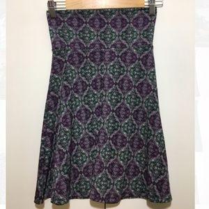 Lularoe Purple Black A Line Azure Skirt